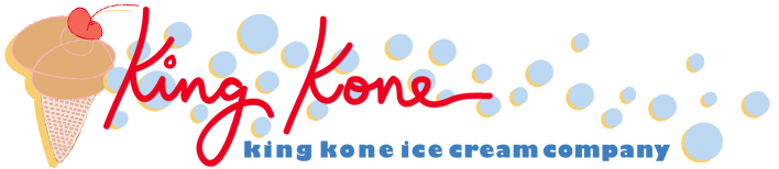 King Kone Ice Cream Delivery Truck Logo